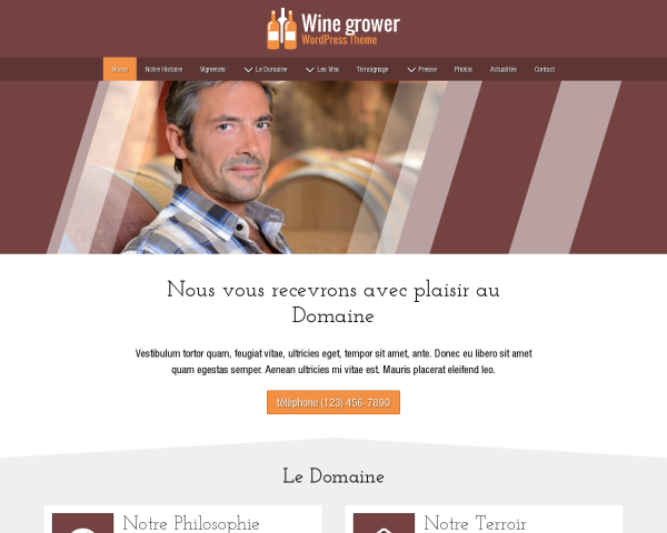 Wine Grower Wordpress Theme