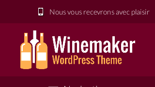 landscape iphone mobile of WordPress theme 'Winemaker Wordpress Theme'