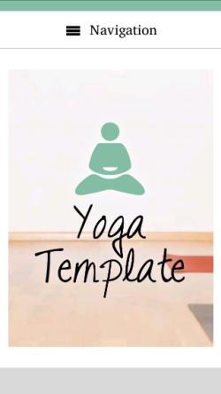 mobile phone screenshot WordPress theme 'Yoga WordPress Theme'