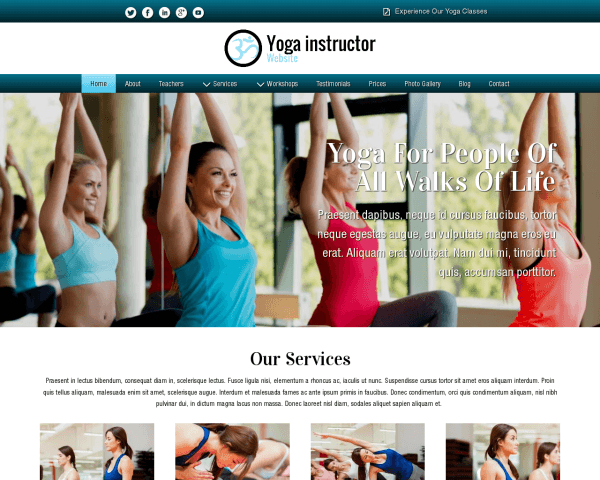 Yoga Instructor Website