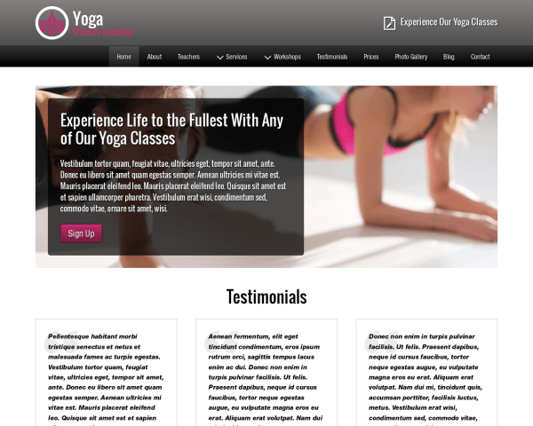Yoga Website Template