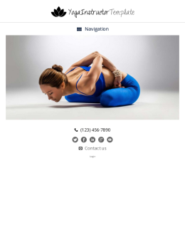 tablet screenshot WordPress theme 'Yoga Instructor WordPress Theme'